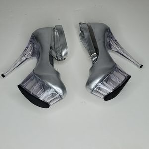 GASOLINE GLAMOUR Shoes - GASOLINE GLAMOUR SILVER METALLIC SHOES